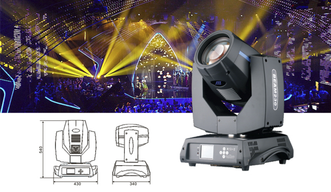Three systems and working principles of stage beam lights