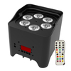 Club Lighting 6X15W LED Batteryed Par Can RGBWAUV 6in1