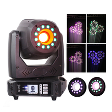 New LED 100W 3 Prisms Mini Spot DMX Moving Head Dj Lights with RGB 3 in1 Leds Ring